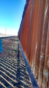 There is a physical barrier for several hundred miles of the U.S. - Mexico border.
